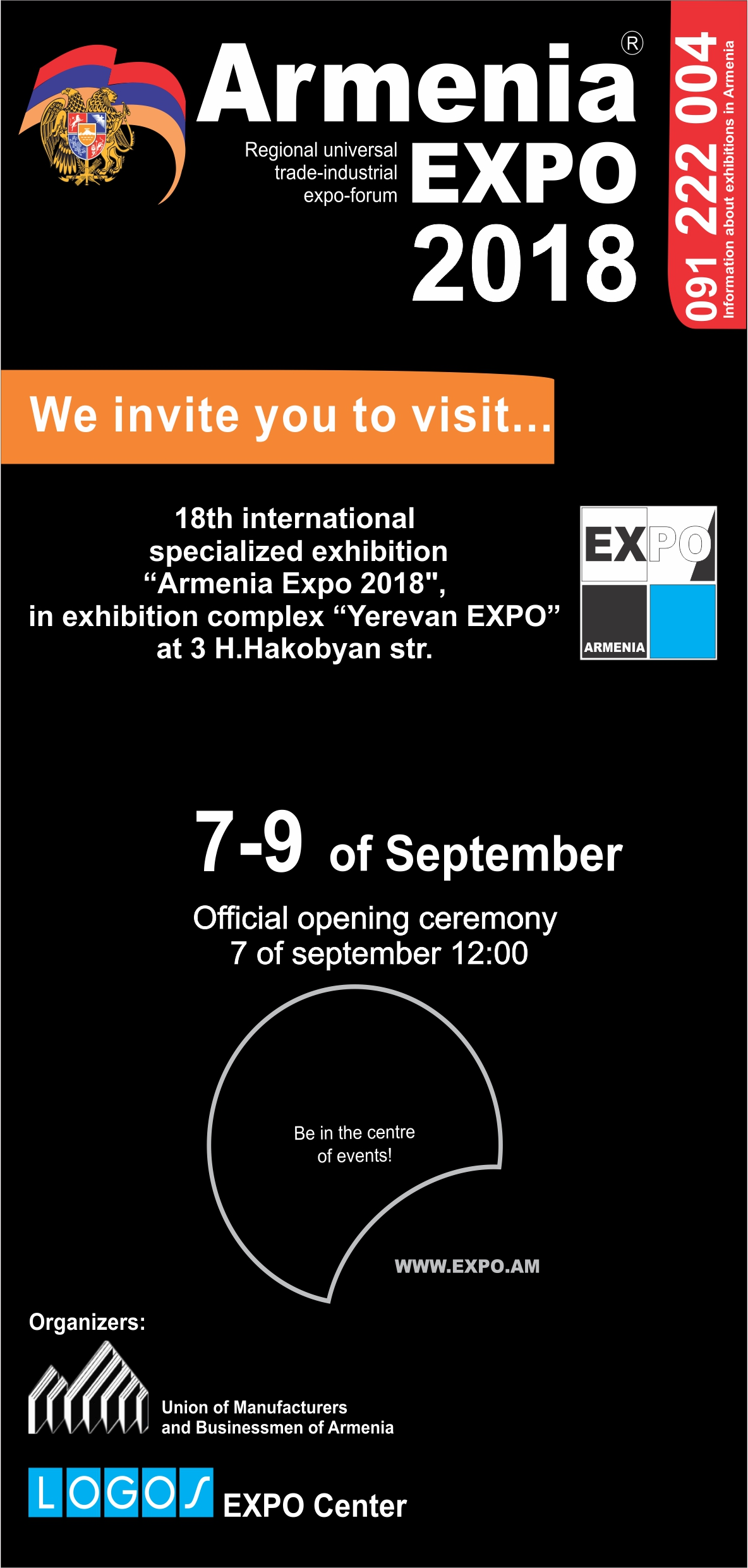 Armenia expo 2018 expo invitation card in the exhibition stopboris